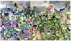 Pixelated to the nth degree, this Facebook Live Video becomes art :)