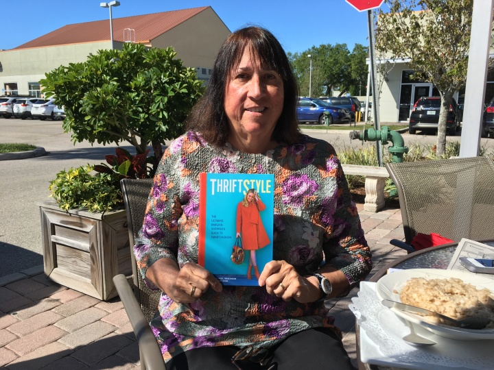 Author of Thriftstyle, Peggy Engel, at breakfast with Kate Holmes, author of Too Good to be Threw, in Sarasota FL March 2018