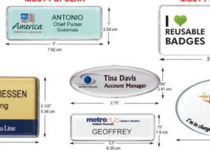 Reusable name tags are cost-effective for even the smallest staff, says TGtbT.com