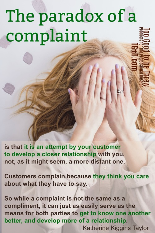 Don't fear customer complaints, says Kate Holmes of TGtbT.com