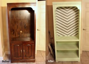 Before-&-after shots help potential buyers see... the potential... in an old armoire. Check out TGtbT's Pinterest Boards for more ideas.