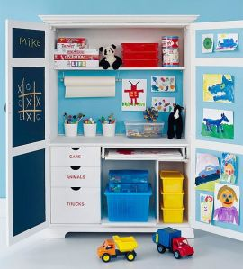 Resale shop play area, contained in an armoire at TGTbT.com