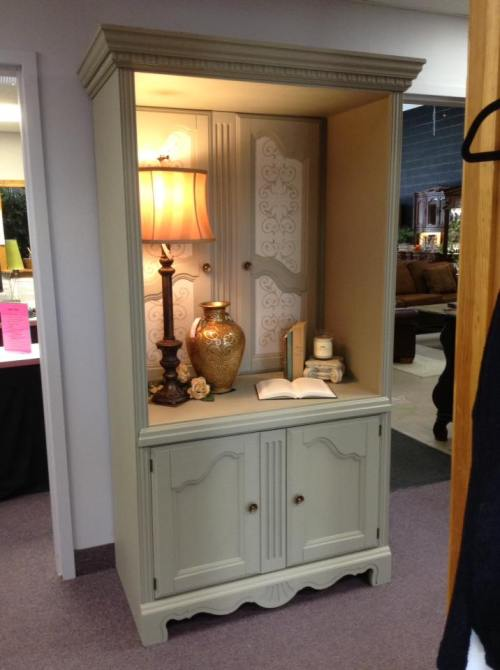 Old TV armoire turned into a desirable piece as seen on TGtbT.blog