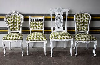 Unify individaul dining chairs for an ecelctic dining room set