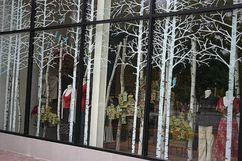 Winter forest window display idea from Anthropolgie to you