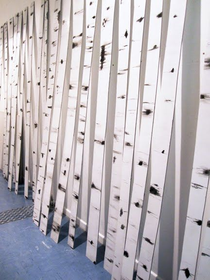 Birch tree trunks as consignment display from TGtbT.blog