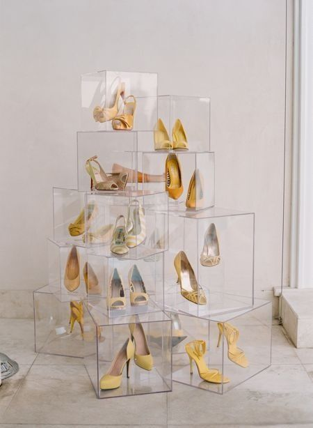 Holiday shoe display for resale shops