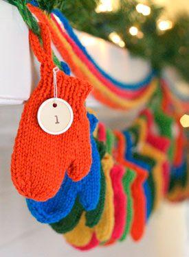 Mitten advent calendar for a childrenswear consignment shop from TGtbT.com