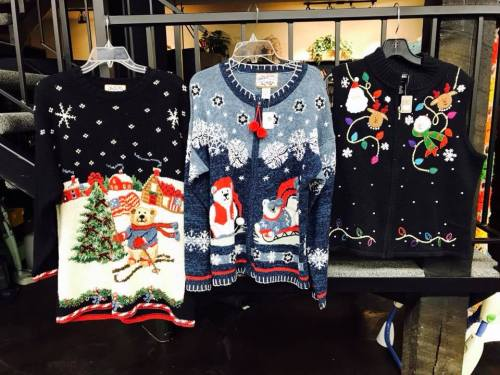 Ugly sweaters: Your resale shop will NEED them next year, so grab 'em now says TGtbT.blog