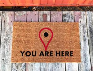 This doormat photo is an example of linking your images to where you ant them to go.